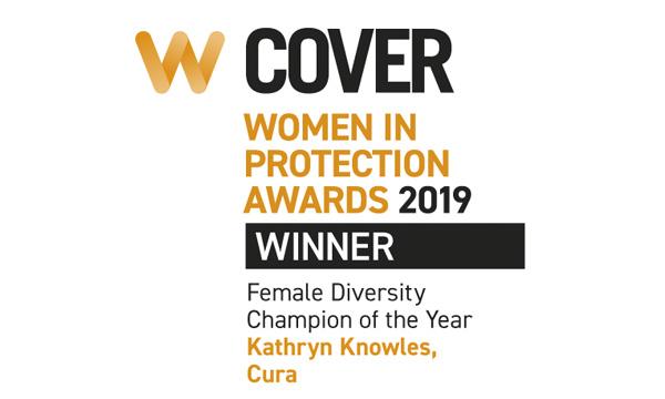 Award logo for female Diversity Champion