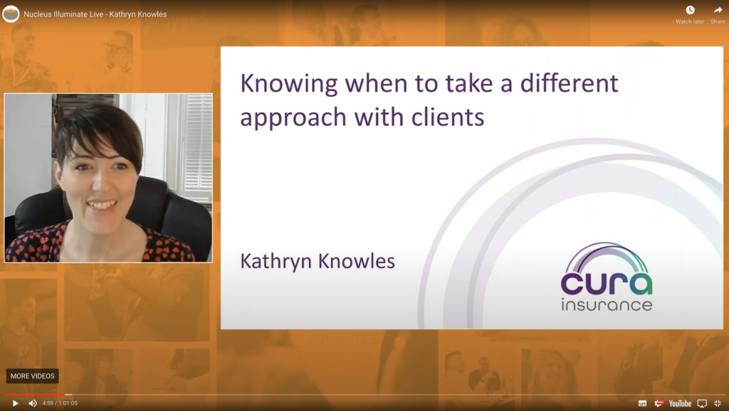 An image of Kathryn Knowles speaking at Nucleus Illuminate